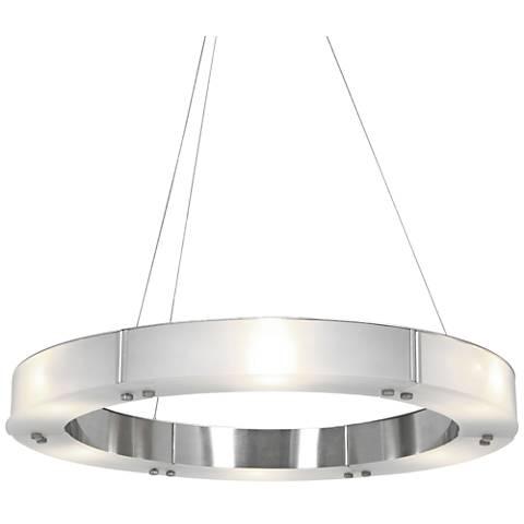 """Oracle 22"""" Wide Brushed Steel 6-Light LED Chandelier"""