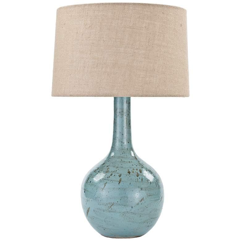 Regina Andrew Robin Egg Blue Ceramic Table Lamp