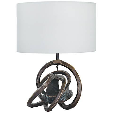 Regina Andrew Design Large Knot Sculptural Bronze Table Lamp