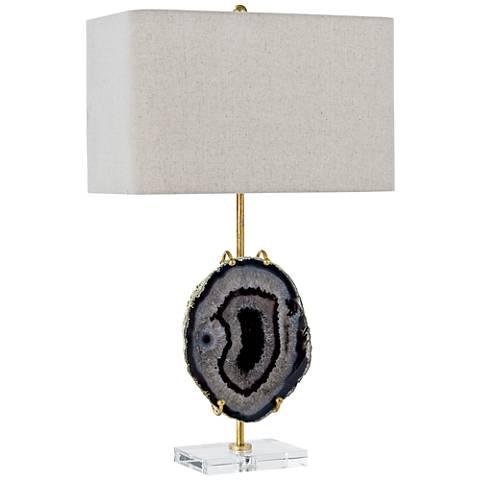 Regina Andrew Design Natural Agate Exhibit Gold Table Lamp