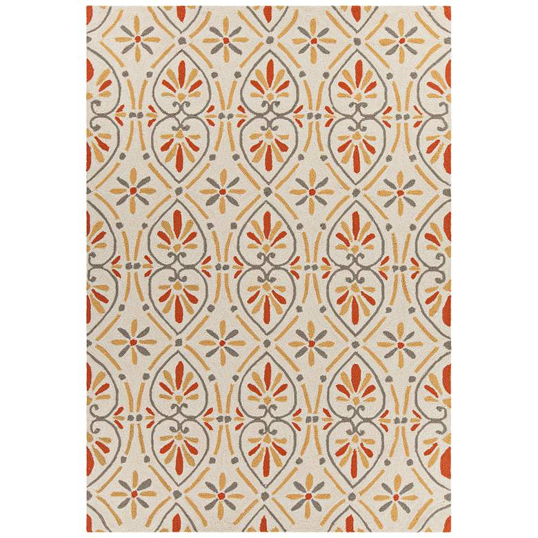 Chandra Terra Cream, Yellow and Orange Area Rug