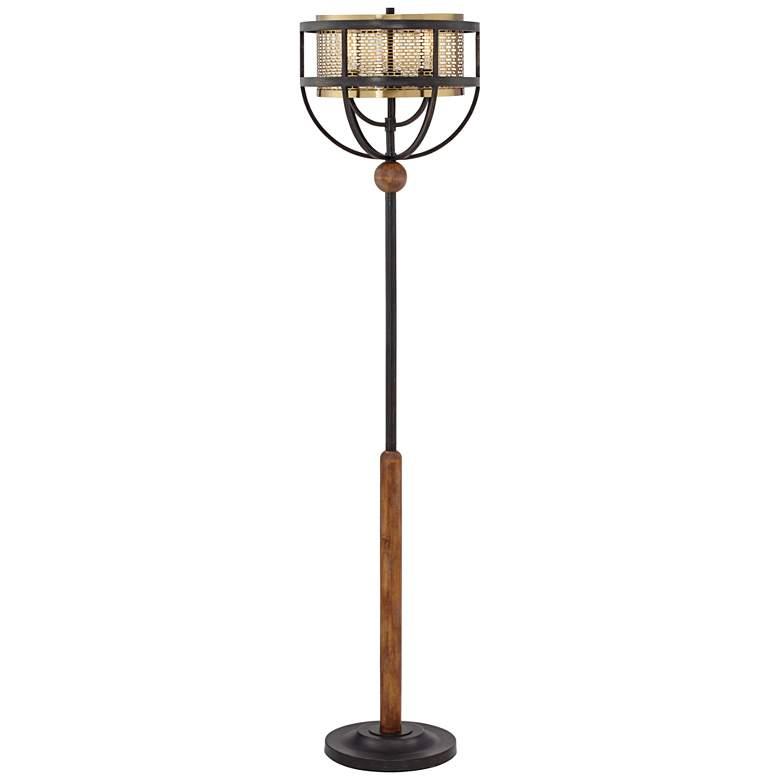 Franklin Iron Works Westin Floor Lamp with Edison Bulbs