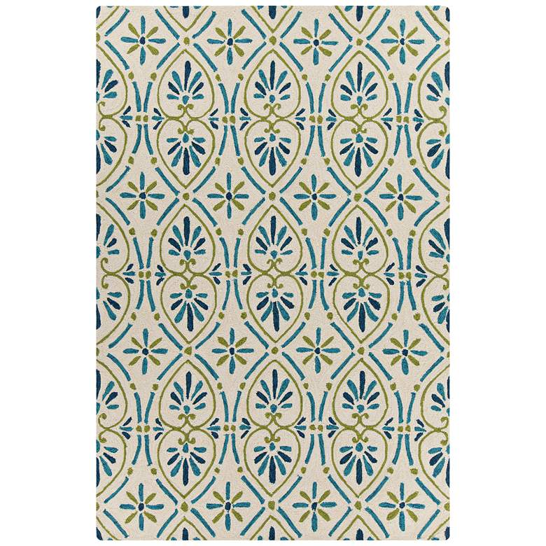 Chandra Terra Cream and Green Outdoor Area Rug