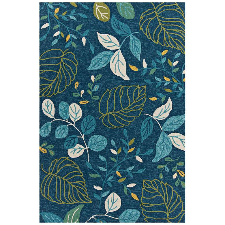"Chandra Terra 5'x7'6"" Blue and Green Outdoor Area Rug"