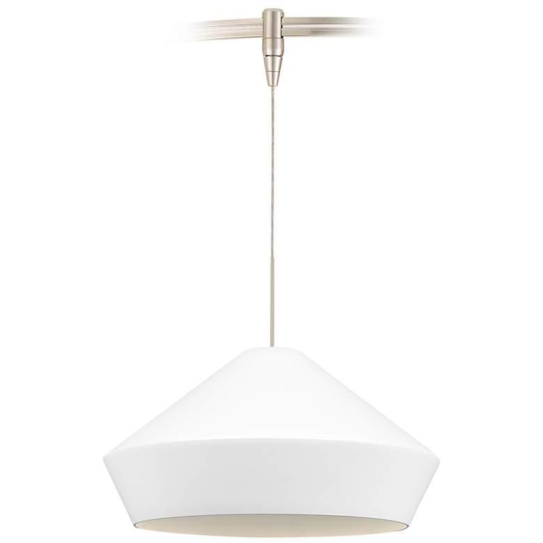 "Brummel 10 1/2"" Wide Satin Nickel LED Monorail Mini Pendant"