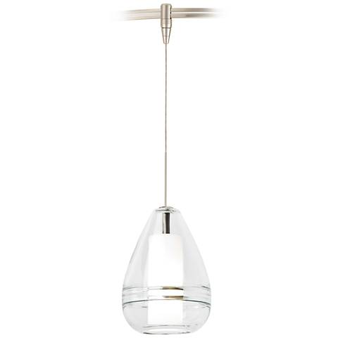 "Mini Ella 5"" Wide Clear Glass LED Monorail Mini Pendant"
