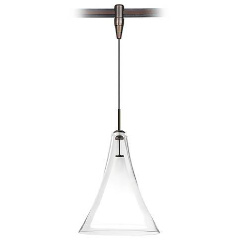 """Mini Melrose II 5""""W Bronze Monorail LED Mini Pendant"""