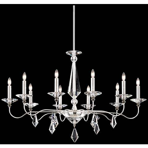 "Schonbek Jasmine 42""W Polished Silver 10-Light Chandelier"