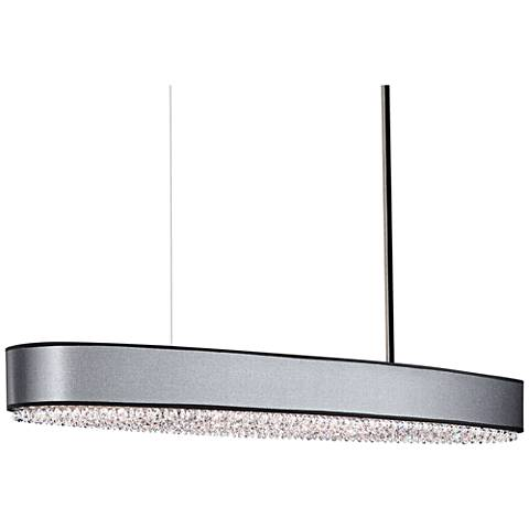 "Schonbek Eclyptix 49""W Black 14-Light Oval Island Pendant"