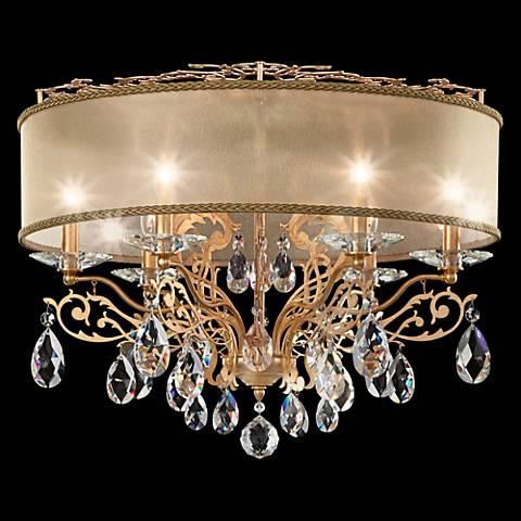 """Schonbek Filigrae 24""""W French Gold 6-Light Ceiling Light"""