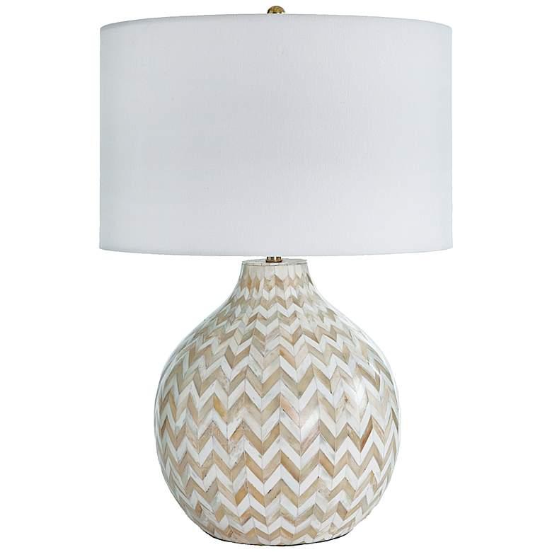 Regina Andrew Multicolor Bone Chevron Jug Table Lamp