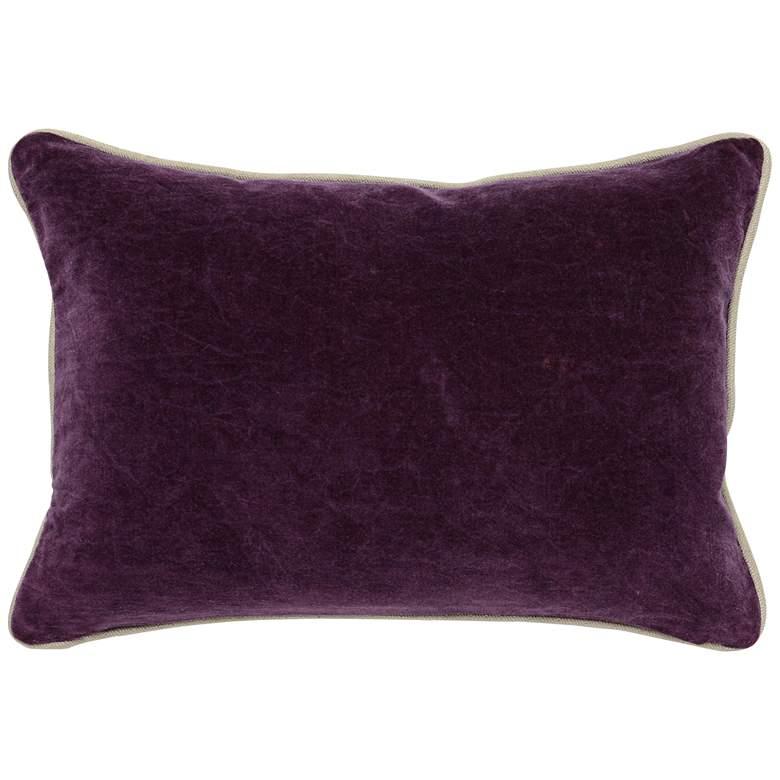 Deep Plum Purple 20 Quot X 14 Quot Cotton Velvet Throw Pillow