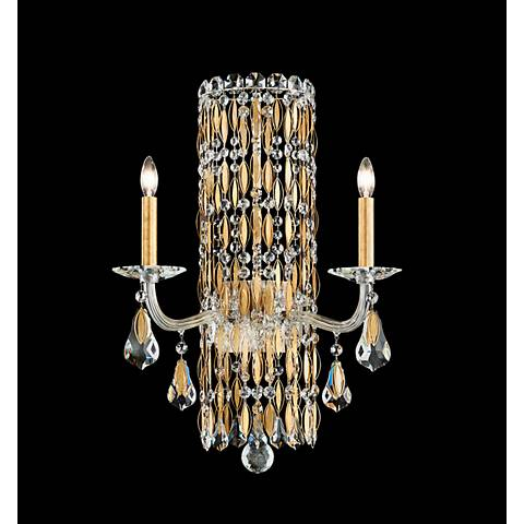 "Schonbek Sarella 23""H Heirloom Gold 2-Light Wall Sconce"