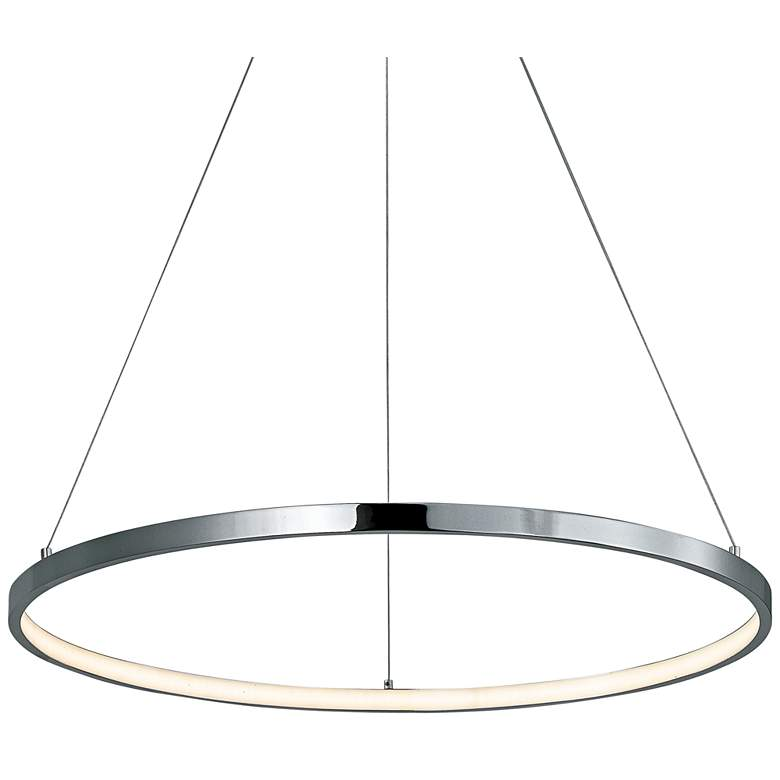 "ET2 Hoops 23 1/2"" Wide Chrome LED Ring"