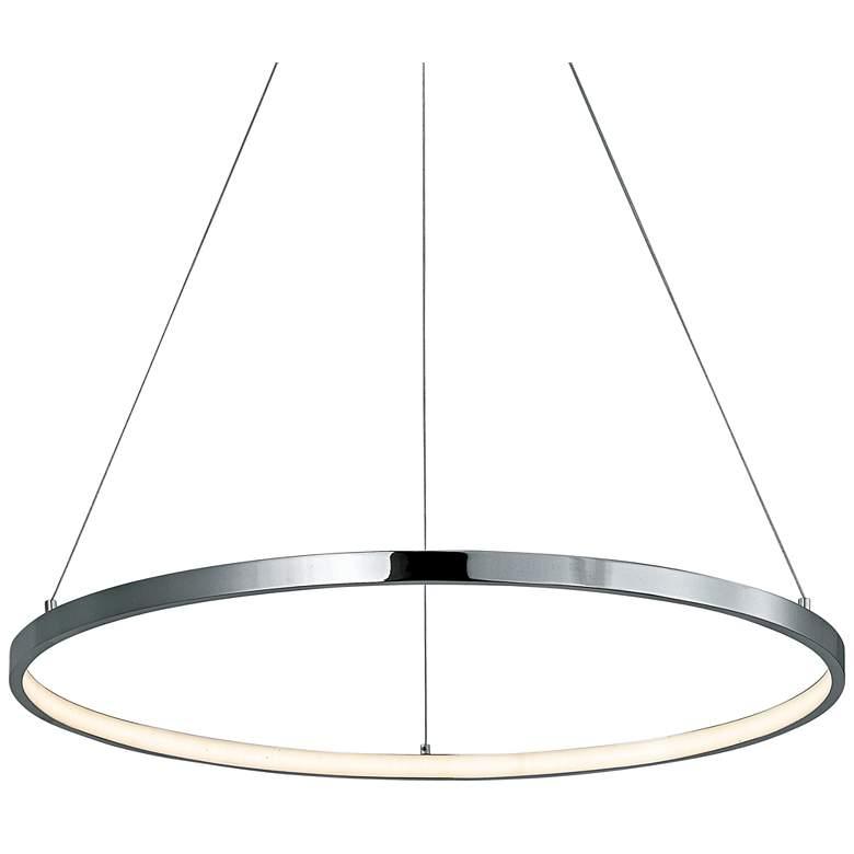 """ET2 Hoops 23 1/2"""" Wide Chrome LED Ring Pendant Light"""