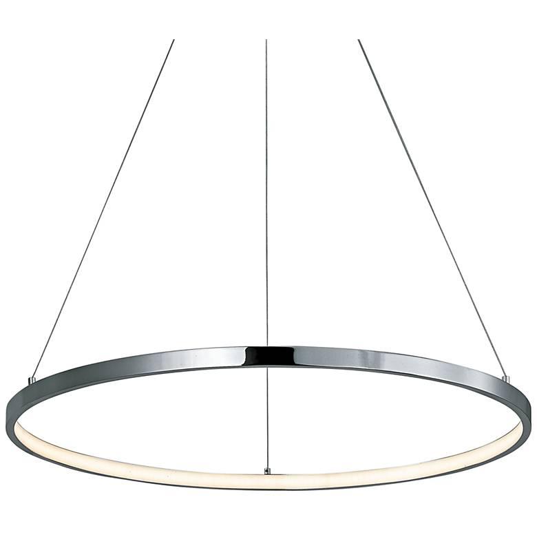 """ET2 Hoops 23 1/2"""" Wide Polished Chrome LED Pendant Light"""