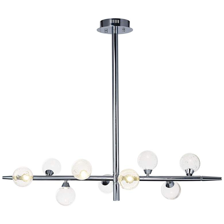 "ET2 Bubbly 46 1/2"" Wide Polished Chrome LED Pendant Light"