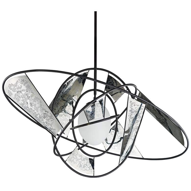 """ET2 Astro 18"""" Wide Black/Stainless Steel LED Pendant Light"""