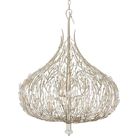 Varaluz Bask 32 Wide Gold Dust Crystal Pendant Light