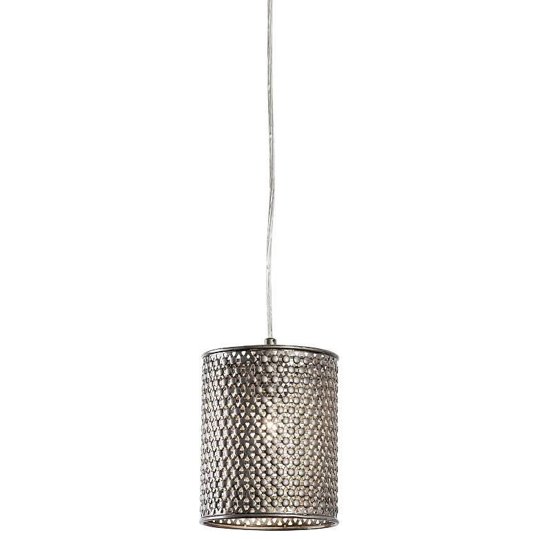 "Varaluz Casablanca 6"" Wide Steel Mini Pendant"