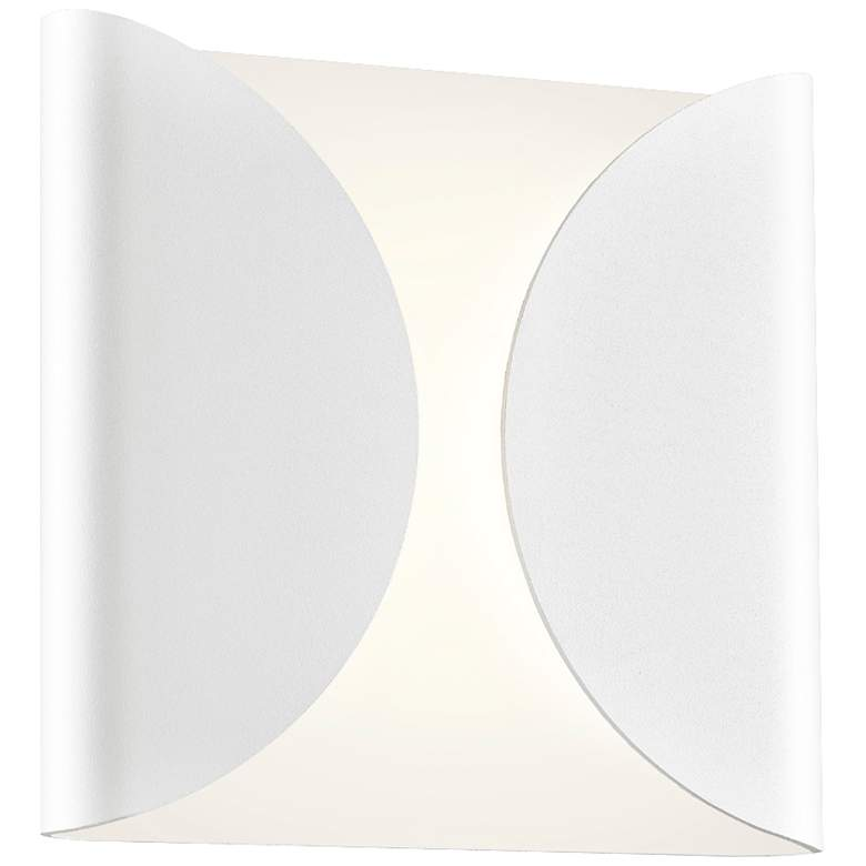 """Folds 8"""" High Textured White Outdoor LED Wall"""