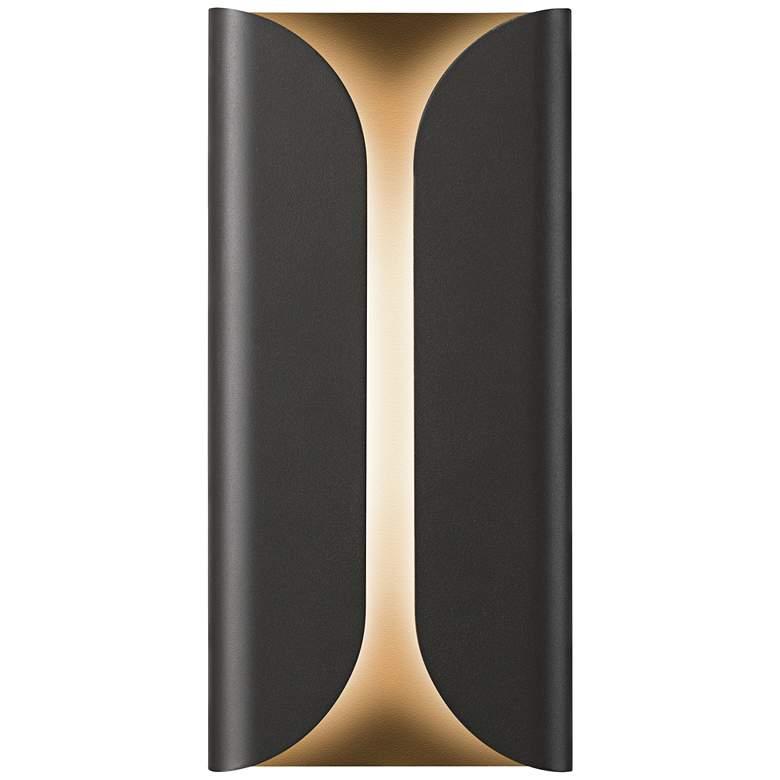"""Folds 13 3/4"""" High Textured Bronze Outdoor LED Wall Light"""