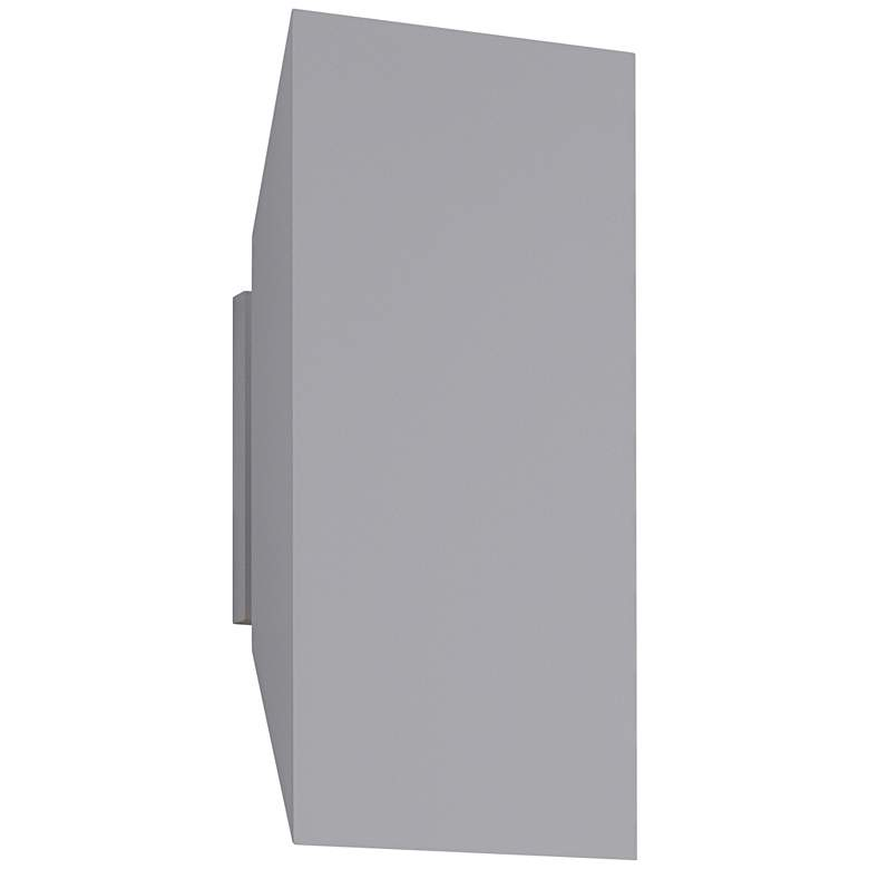 """Chamfer 11"""" High Textured Gray Outdoor LED Wall Light"""