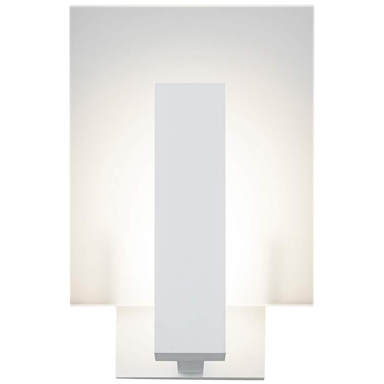 """Midtown 10 3/4""""H Textured White Outdoor LED Wall"""