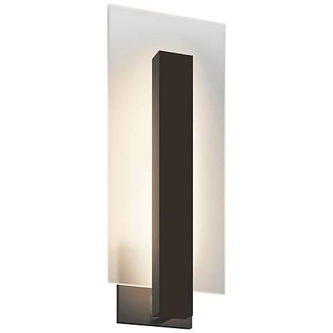 "Midtown 18"" High Textured Bronze Outdoor LED Wall Light"