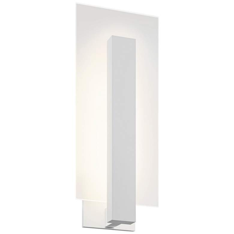 """Midtown 18"""" High Textured White Outdoor LED Wall"""