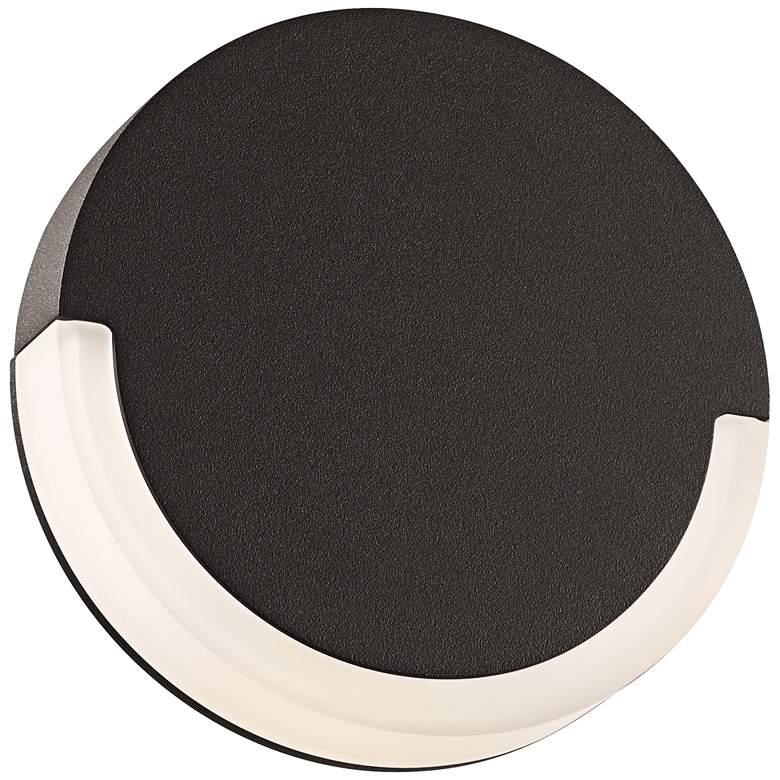 """CRCL 6"""" High Textured Bronze Outdoor LED Wall Light"""