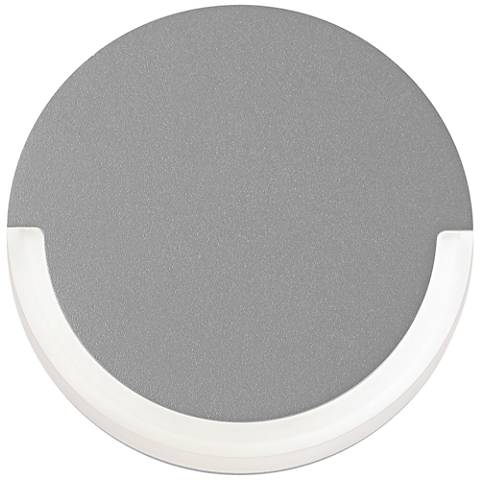 "CRCL 6"" High Textured Gray Outdoor LED Wall Light"