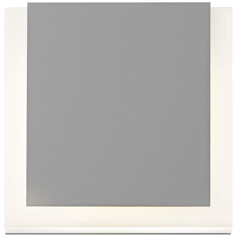 """SQR 7"""" High Textured Gray Outdoor LED Wall Light"""