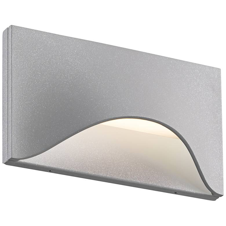 """Tides 4 1/2"""" High Textured Gray LED Outdoor Wall Light"""