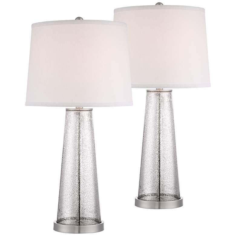 Andrea Mercury Glass Table Lamp Set of 2