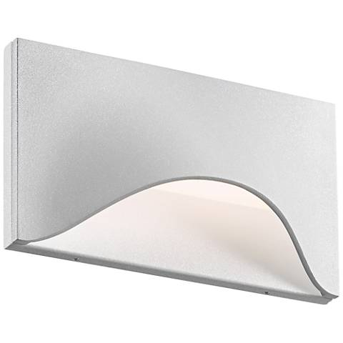 "Tides 4 1/2""H Textured White LED Outdoor Wall Light"