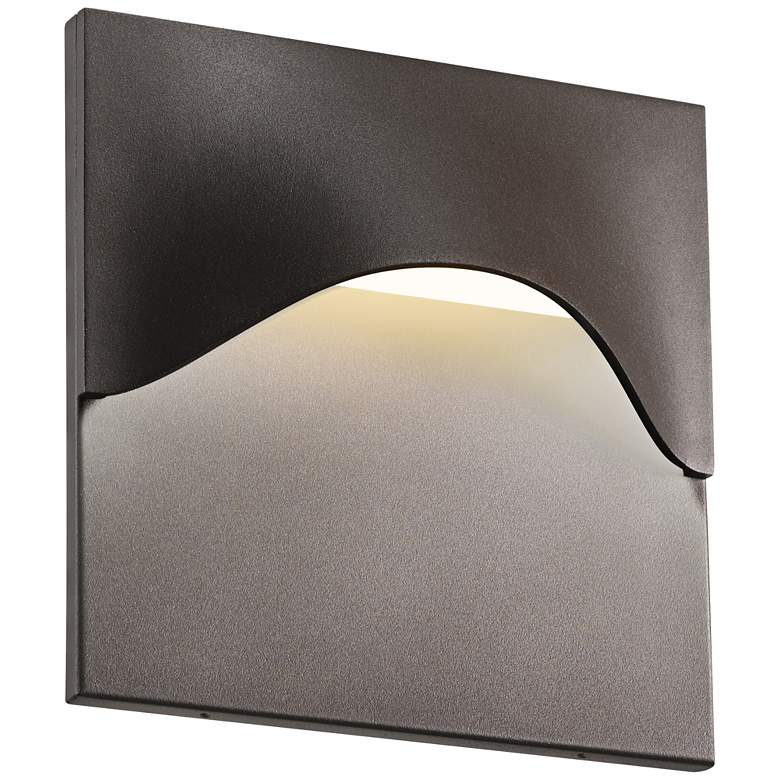 "Sonneman Tides 8""H Textured Bronze LED Outdoor Wall"