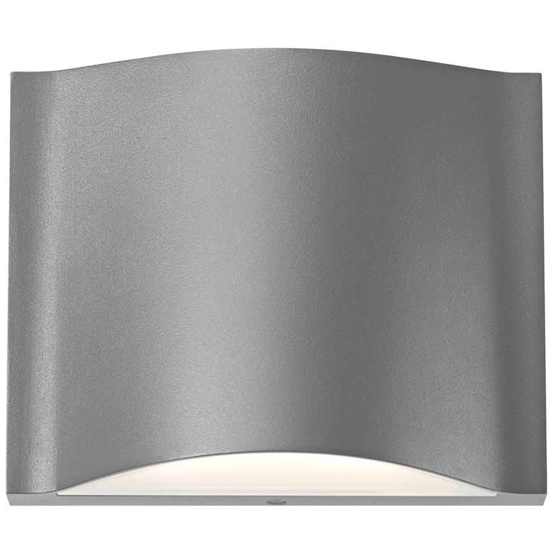"""Drift 4 3/4"""" High Textured Gray LED Outdoor Wall Light"""