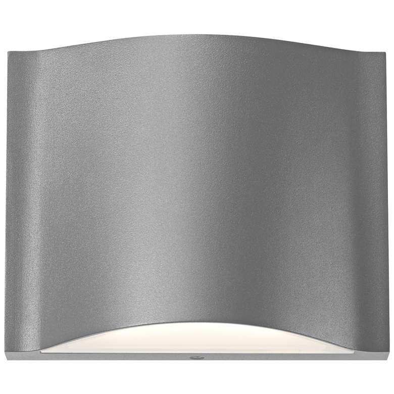 "Drift 4 3/4""H Textured Gray Dual LED Outdoor"