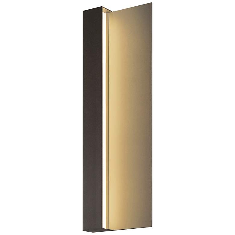 "Radiance 20""H Textured Bronze LED Outdoor Wall Light"