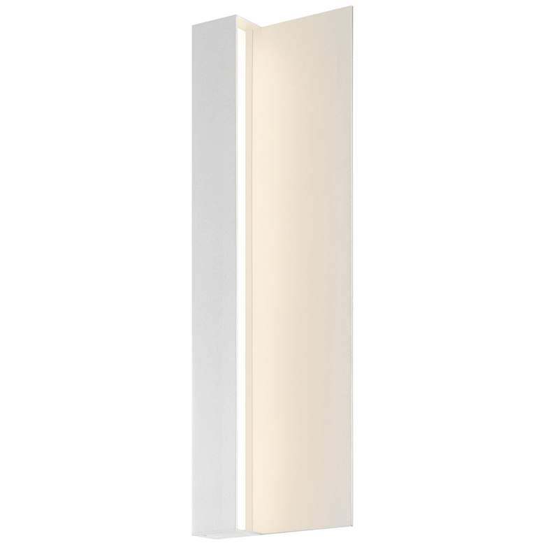 "Radiance 20""H Textured White LED Outdoor Wall Light"