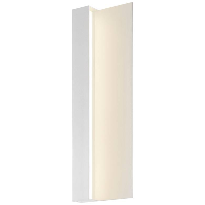 """Radiance 20""""H Textured White LED Outdoor Wall Light"""