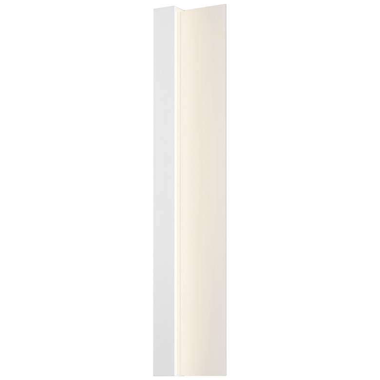 "Radiance 30""H Textured White LED Outdoor Wall Light"