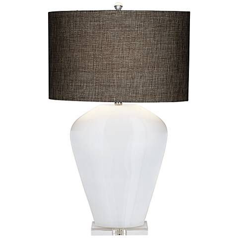 Essie White Glass Table Lamp