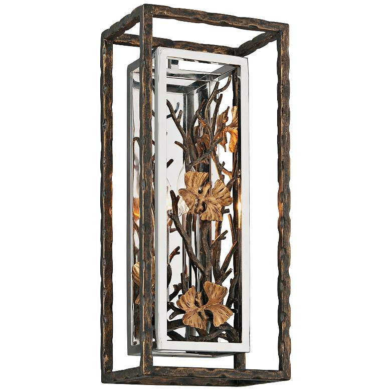 """Chrysalis 18"""" High Cottage Bronze Wall Sconce"""