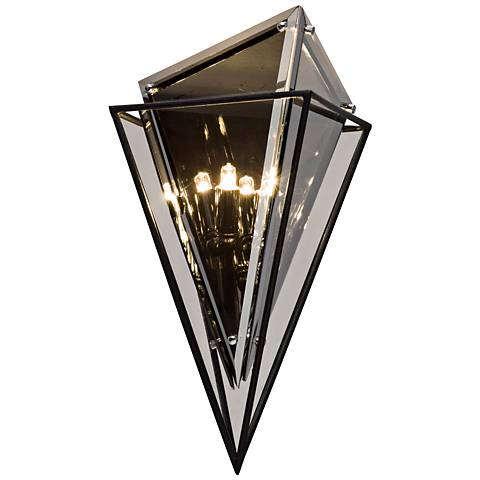 """Epic 16"""" High Forged Iron Wall Sconce"""