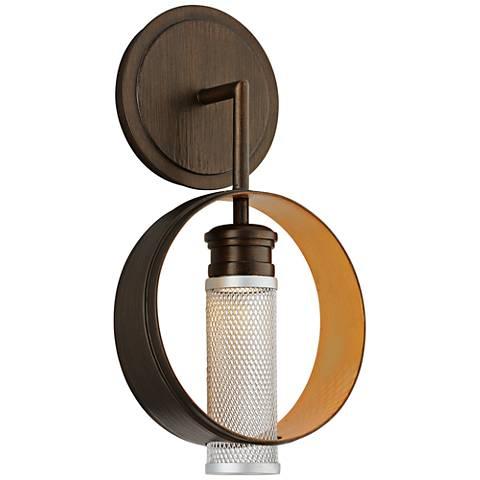 "Insight 15"" High Modern Bronze LED Wall Sconce"