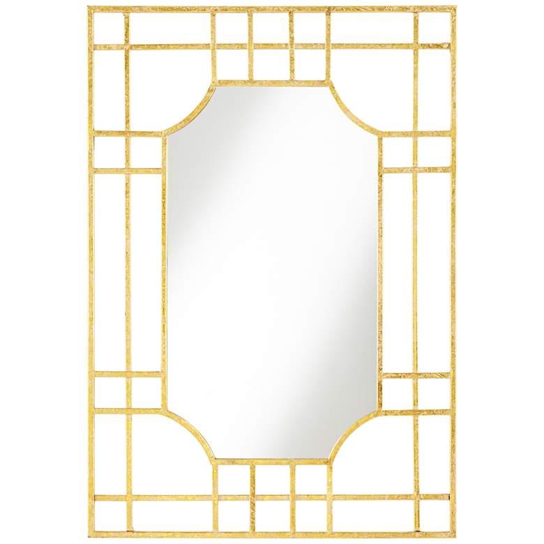 "Verden Gold Grid 25"" x 36"" Rectangle Wall Mirror"