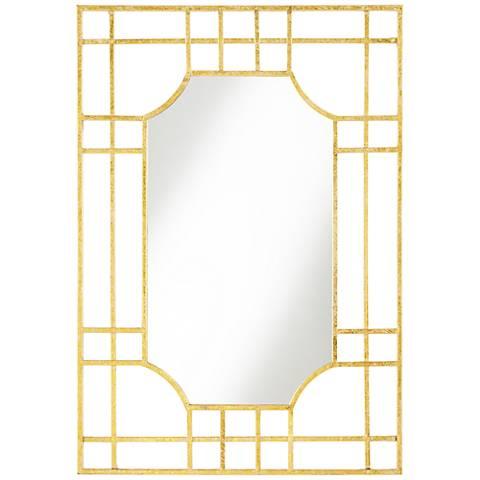 Verden Gold Grid 25 X 36 Rectangle Wall Mirror