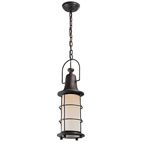 """Maritime 23""""H Vintage Bronze LED Outdoor Hanging Light"""